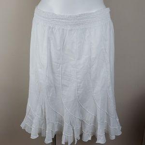 Grace Elements White Cotton Skirt Sz XXL